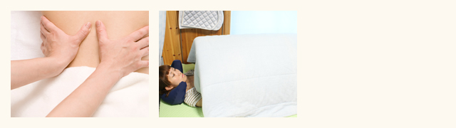 全身光線浴:遠赤外線を用いて体を温めます。